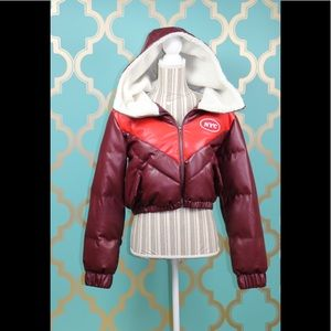 Forever 21 Outerwear Jacket Burgundy/Red